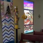 Cristo carregando a cruz - com vitrais 2